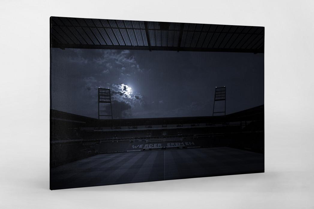 Stadien bei Nacht - Weserstadion (1) als Leinwand auf Keilrahmen gezogen