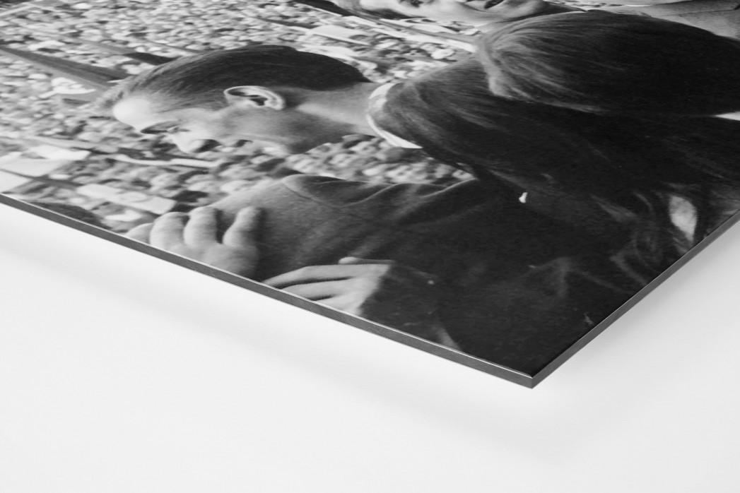 Udo Jürgens mit Meisterschale als auf Alu-Dibond kaschierter Fotoabzug (Detail)