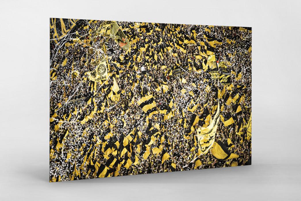 Gelbe Wand - Farbe (1) als auf Alu-Dibond kaschierter Fotoabzug
