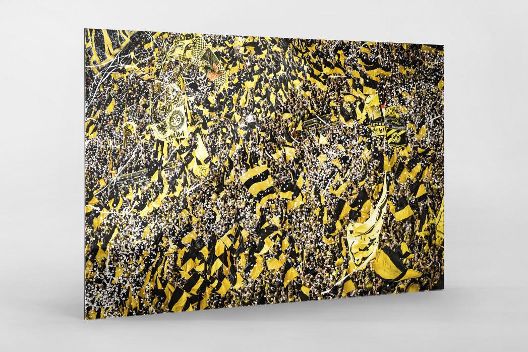 Gelbe Wand - Farbe (1) als Direktdruck auf Alu-Dibond hinter Acrylglas