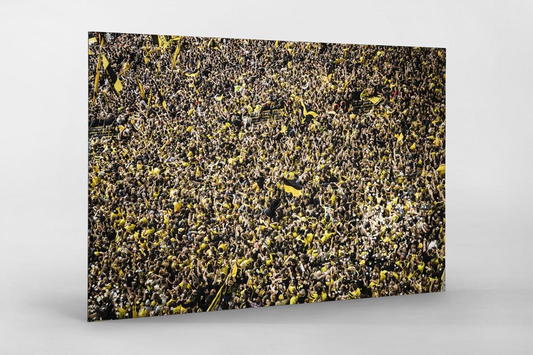 Gelbe Wand - Farbe (2) als auf Alu-Dibond kaschierter Fotoabzug