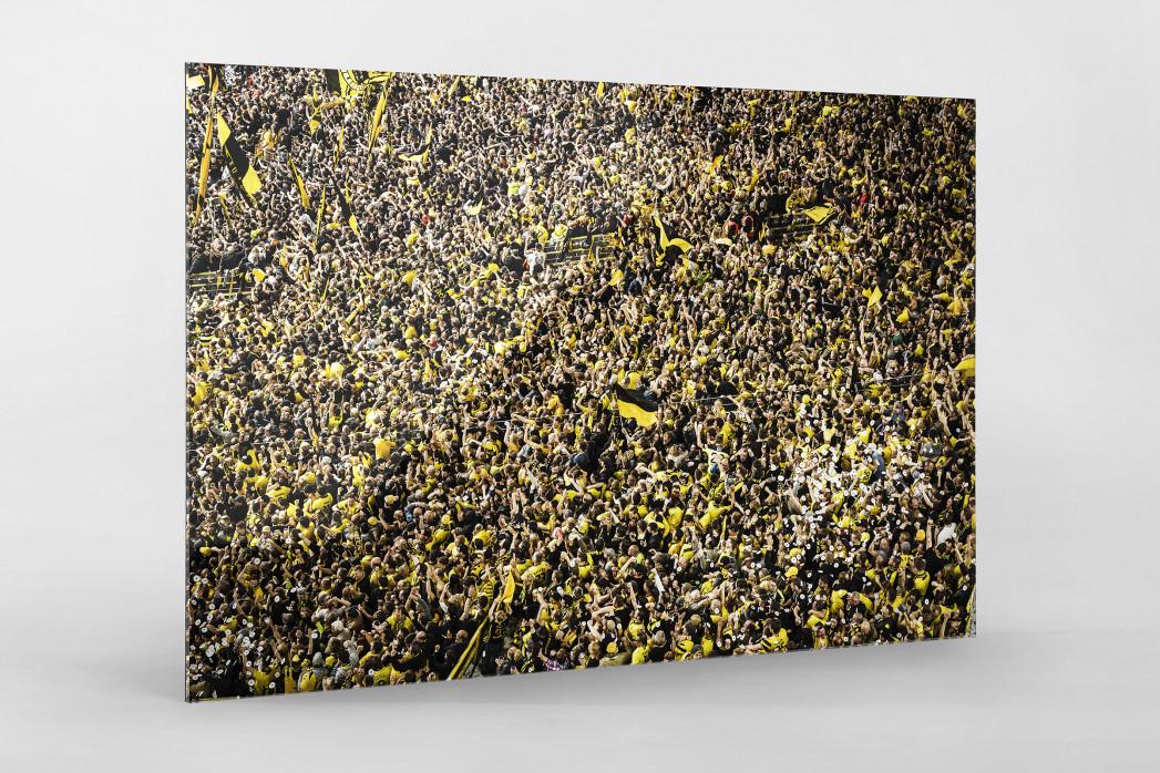 Gelbe Wand - Farbe (2) als Direktdruck auf Alu-Dibond hinter Acrylglas