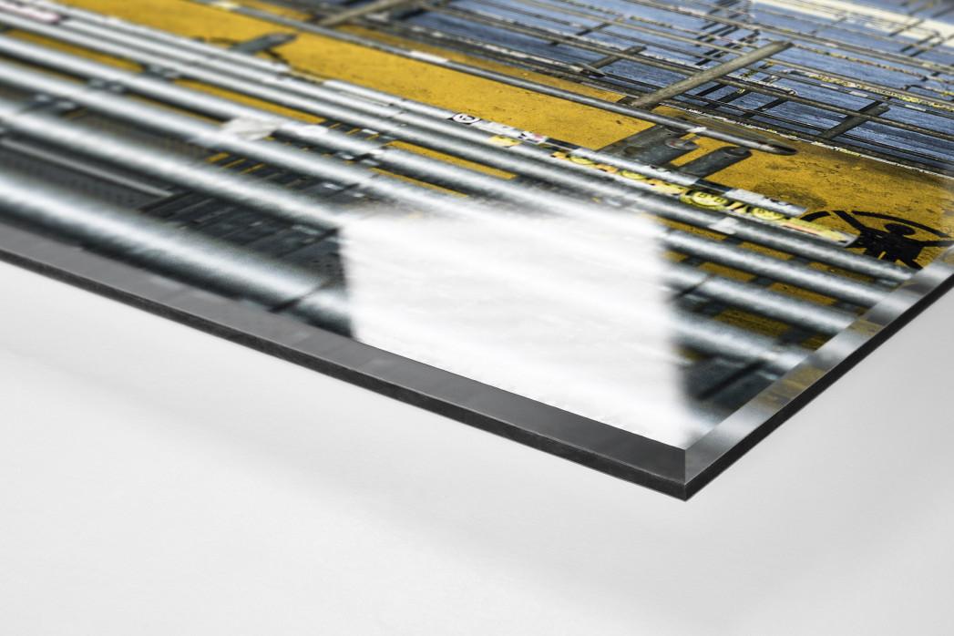 Leere Süd (Farbe) als Direktdruck auf Alu-Dibond hinter Acrylglas (Detail)