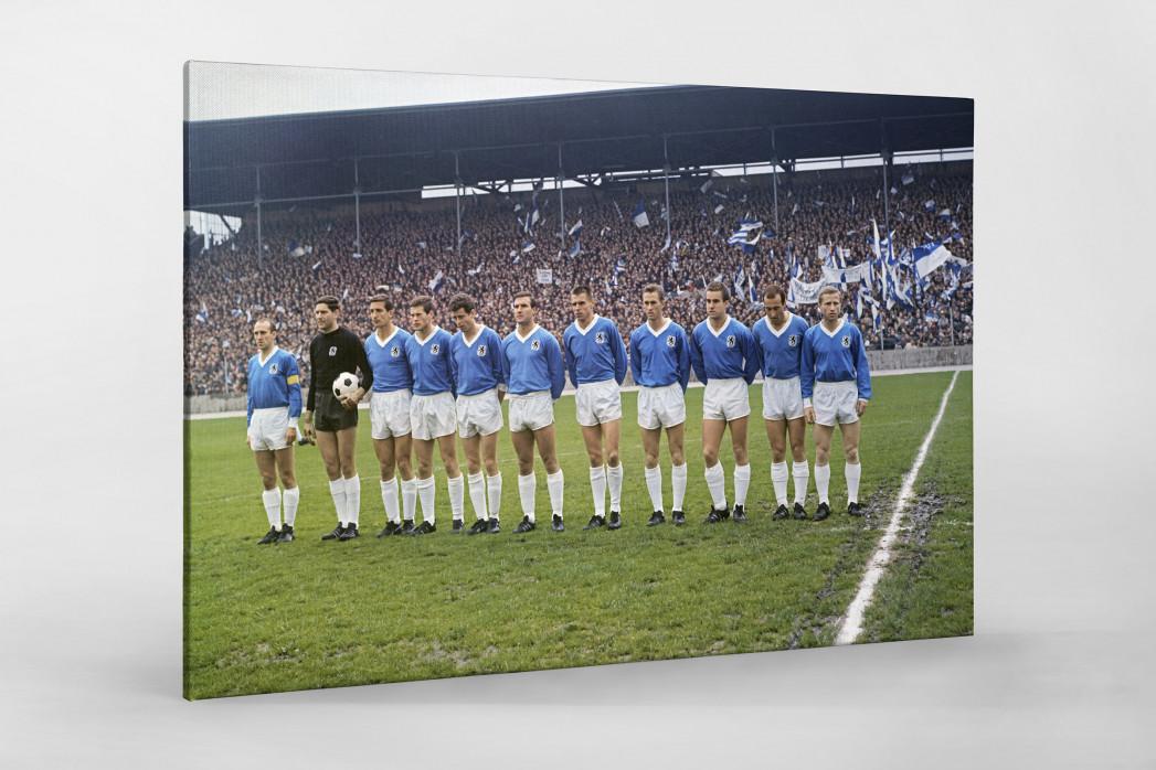 1860 München 1966 (2) als Leinwand auf Keilrahmen gezogen