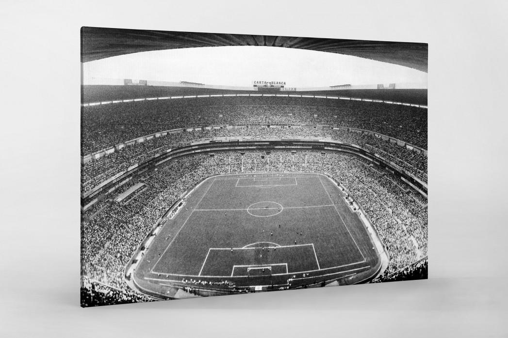Aztekenstadion 1970 als Leinwand auf Keilrahmen gezogen