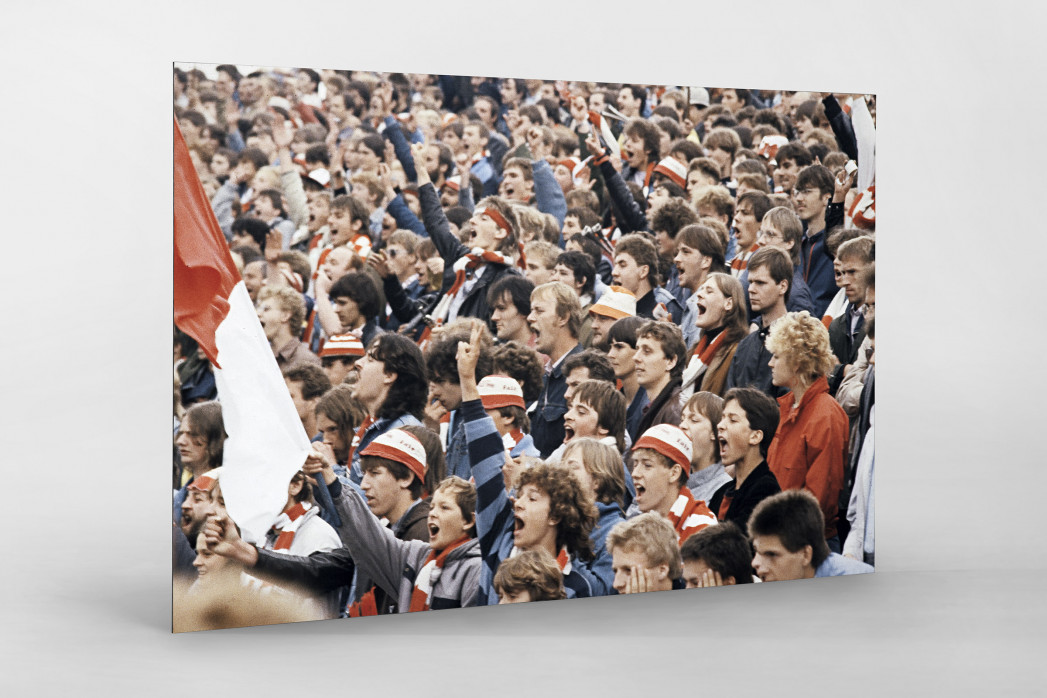 Union Fans als auf Alu-Dibond kaschierter Fotoabzug