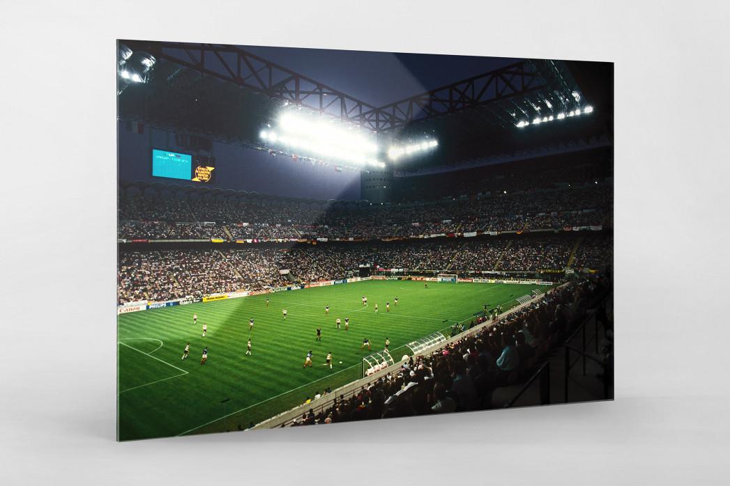 Giuseppe Meazza Stadion als Direktdruck auf Alu-Dibond hinter Acrylglas