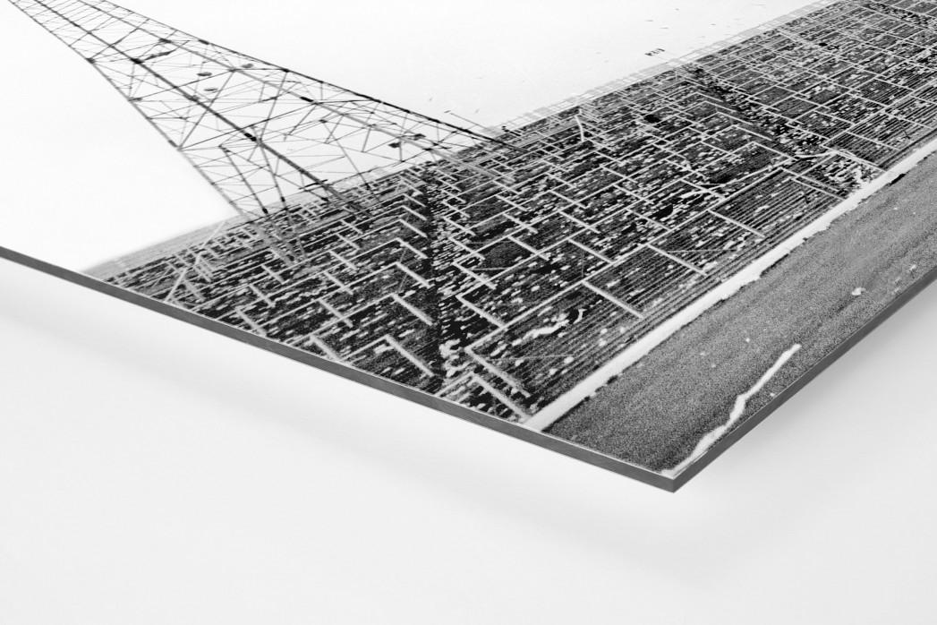 Leere Tribüne im Hampden Park als auf Alu-Dibond kaschierter Fotoabzug (Detail)