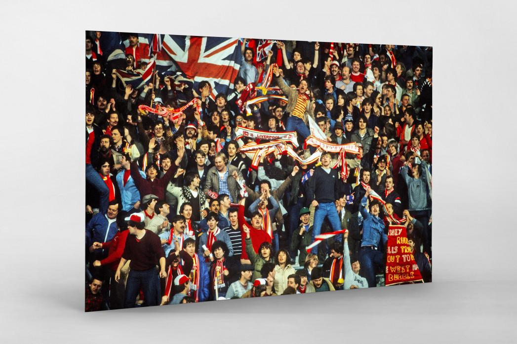 Liverpool Fans 1981 als auf Alu-Dibond kaschierter Fotoabzug