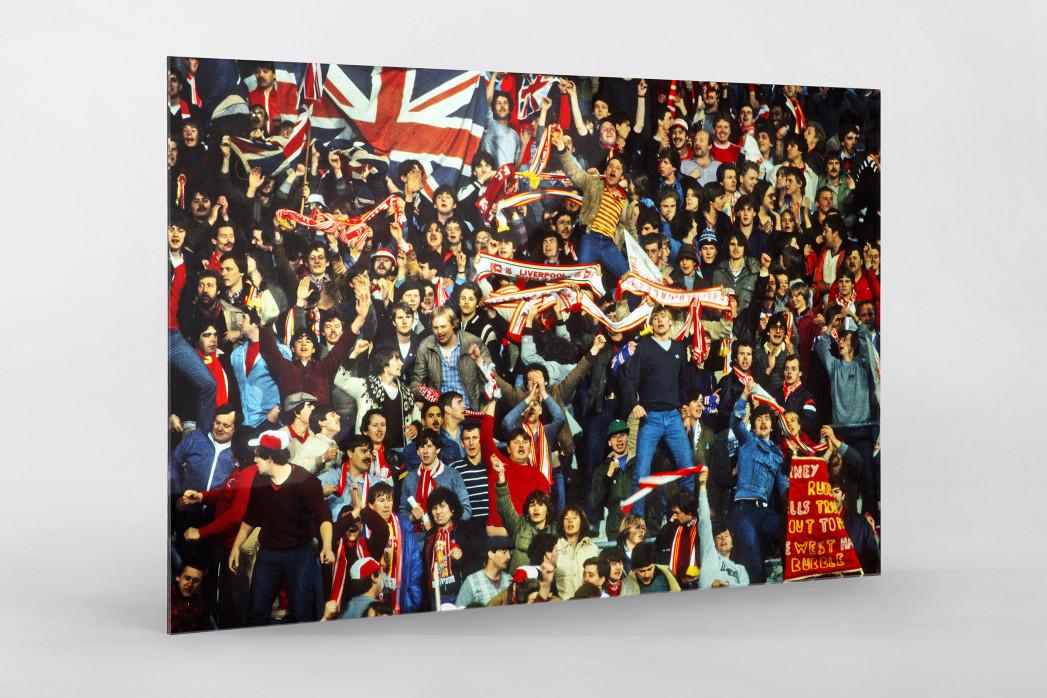 Liverpool Fans 1981 als Direktdruck auf Alu-Dibond hinter Acrylglas