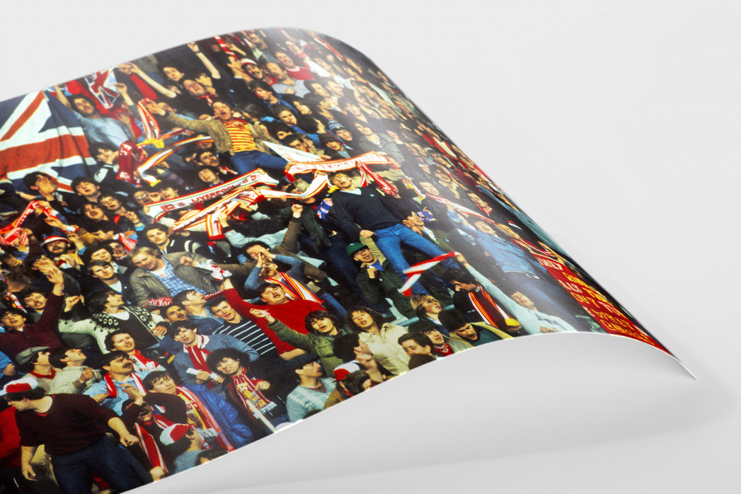 Liverpool Fans 1981 als FineArt-Print