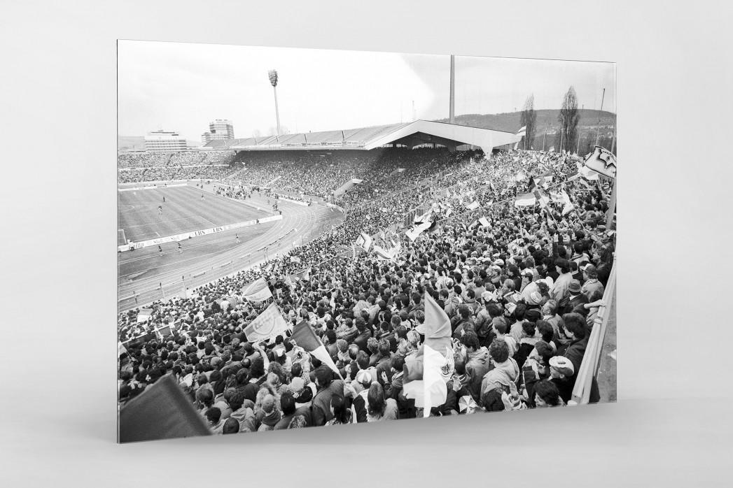 Neckarstadion 1991 als Direktdruck auf Alu-Dibond hinter Acrylglas