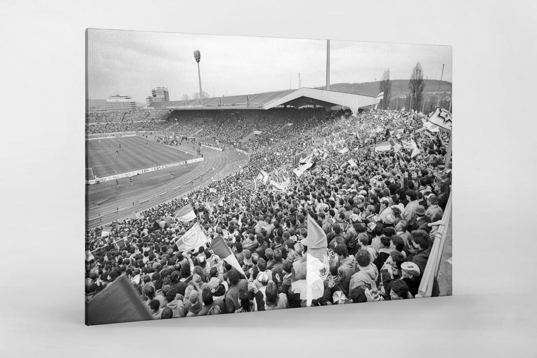 Neckarstadion 1991 als Leinwand auf Keilrahmen gezogen
