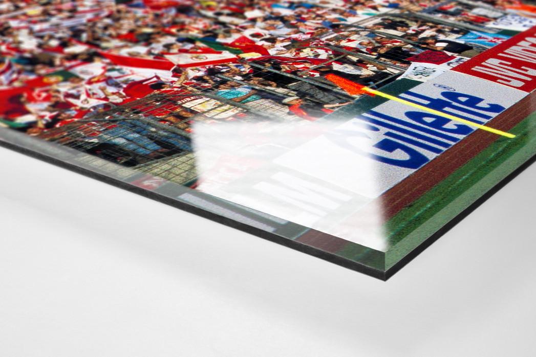 PSV vs. Benfica im Neckarstadion als Direktdruck auf Alu-Dibond hinter Acrylglas (Detail)