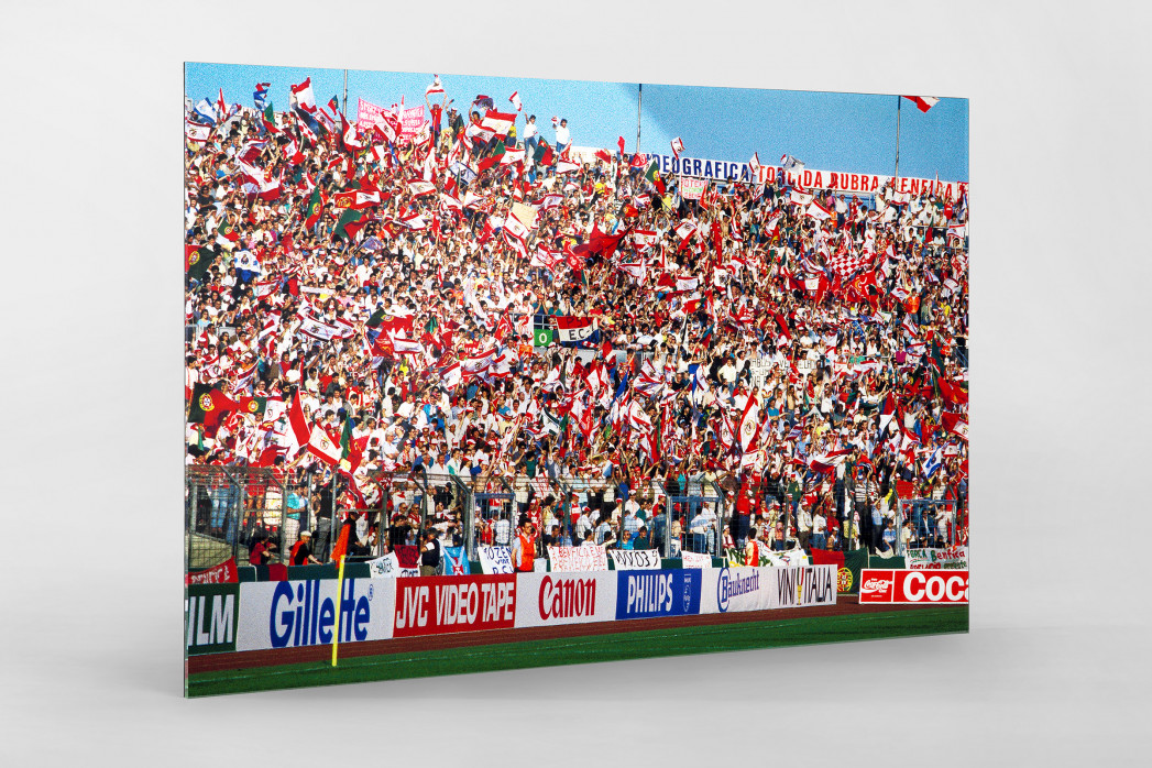 PSV vs. Benfica im Neckarstadion als Direktdruck auf Alu-Dibond hinter Acrylglas