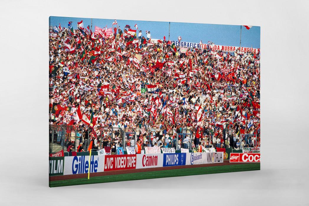 PSV vs. Benfica im Neckarstadion als Leinwand auf Keilrahmen gezogen