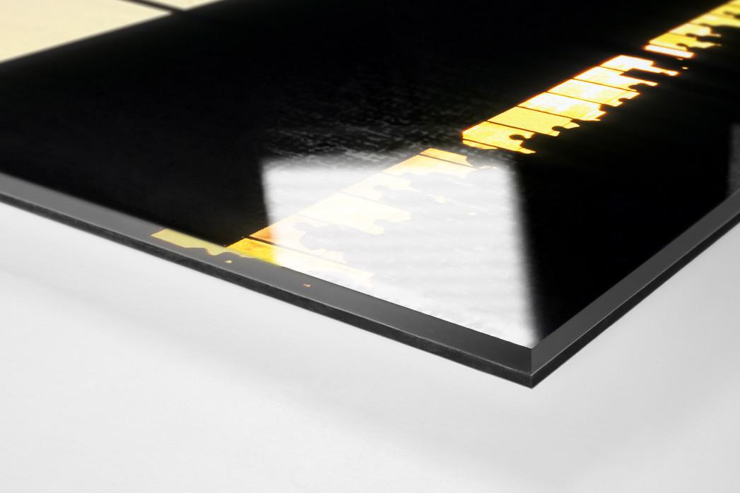 Rostocker Abendsonne als Direktdruck auf Alu-Dibond hinter Acrylglas (Detail)