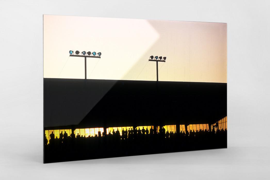Rostocker Abendsonne als Direktdruck auf Alu-Dibond hinter Acrylglas