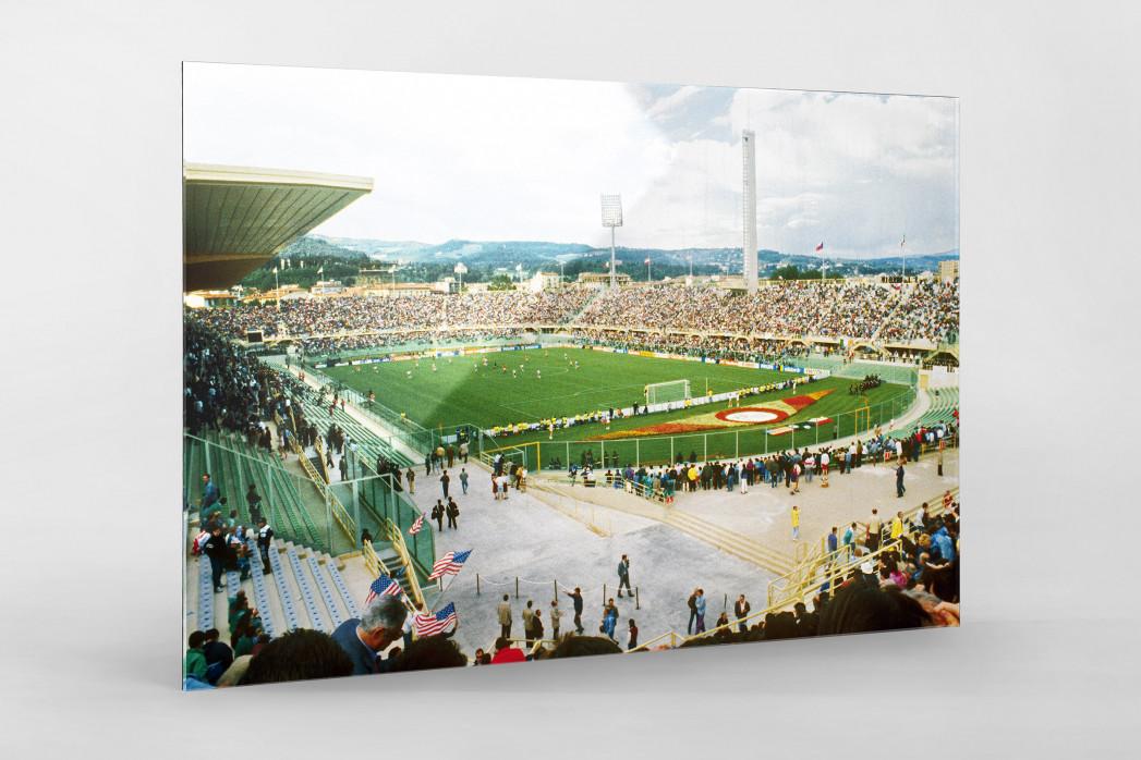 Stadio Artemio Franchi 1990 als Direktdruck auf Alu-Dibond hinter Acrylglas