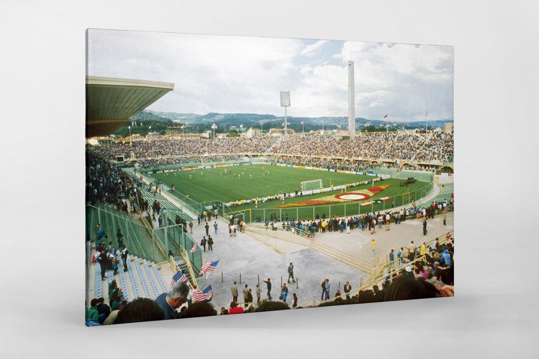 Stadio Artemio Franchi 1990 als Leinwand auf Keilrahmen gezogen