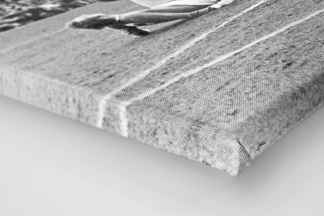 Synchron am Boden als Leinwand auf Keilrahmen gezogen (Detail)