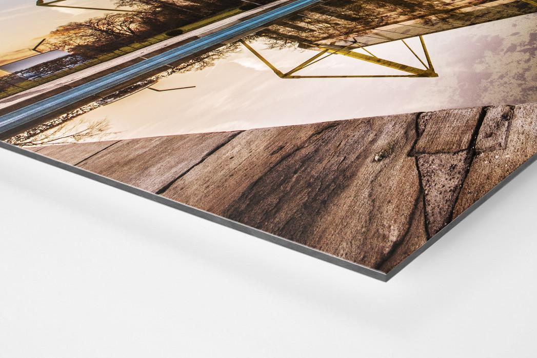Blick auf den Signal Iduna Park (Farbe) als auf Alu-Dibond kaschierter Fotoabzug (Detail)