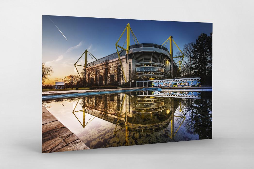 Blick auf den Signal Iduna Park (Farbe) als auf Alu-Dibond kaschierter Fotoabzug
