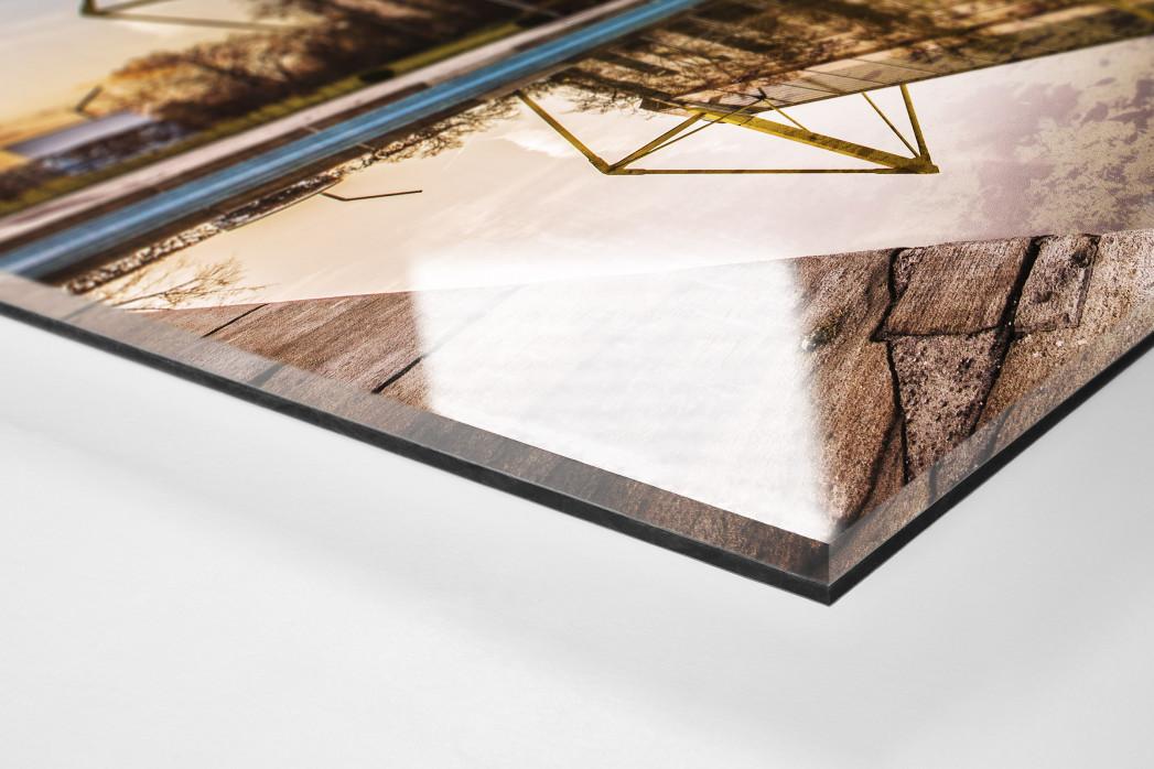 Blick auf den Signal Iduna Park (Farbe) als Direktdruck auf Alu-Dibond hinter Acrylglas (Detail)