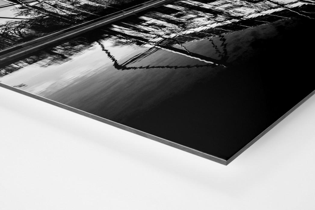 Blick auf den Signal Iduna Park (sw) als auf Alu-Dibond kaschierter Fotoabzug (Detail)