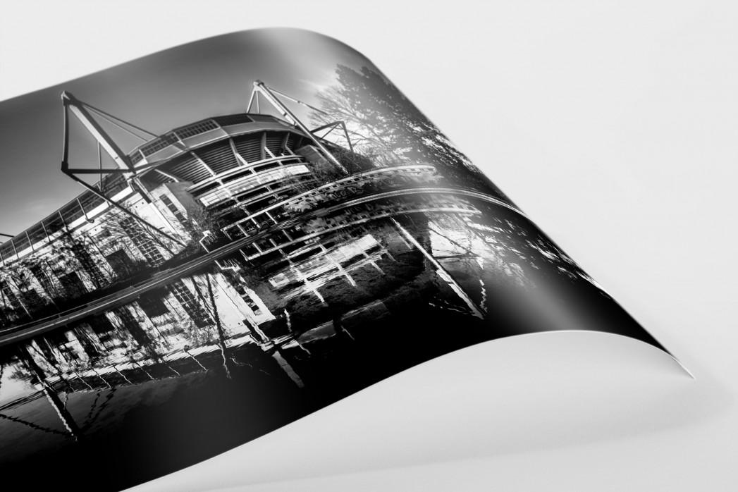 Blick auf den Signal Iduna Park (sw) als FineArt-Print