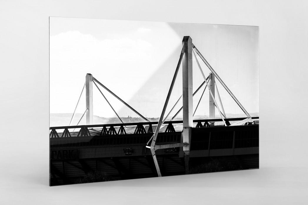 Dach des Signal Iduna Parks als Direktdruck auf Alu-Dibond hinter Acrylglas