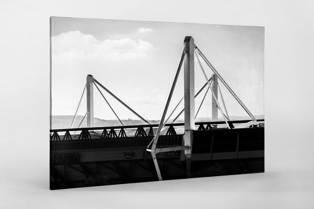 Dach des Signal Iduna Parks als Leinwand auf Keilrahmen gezogen