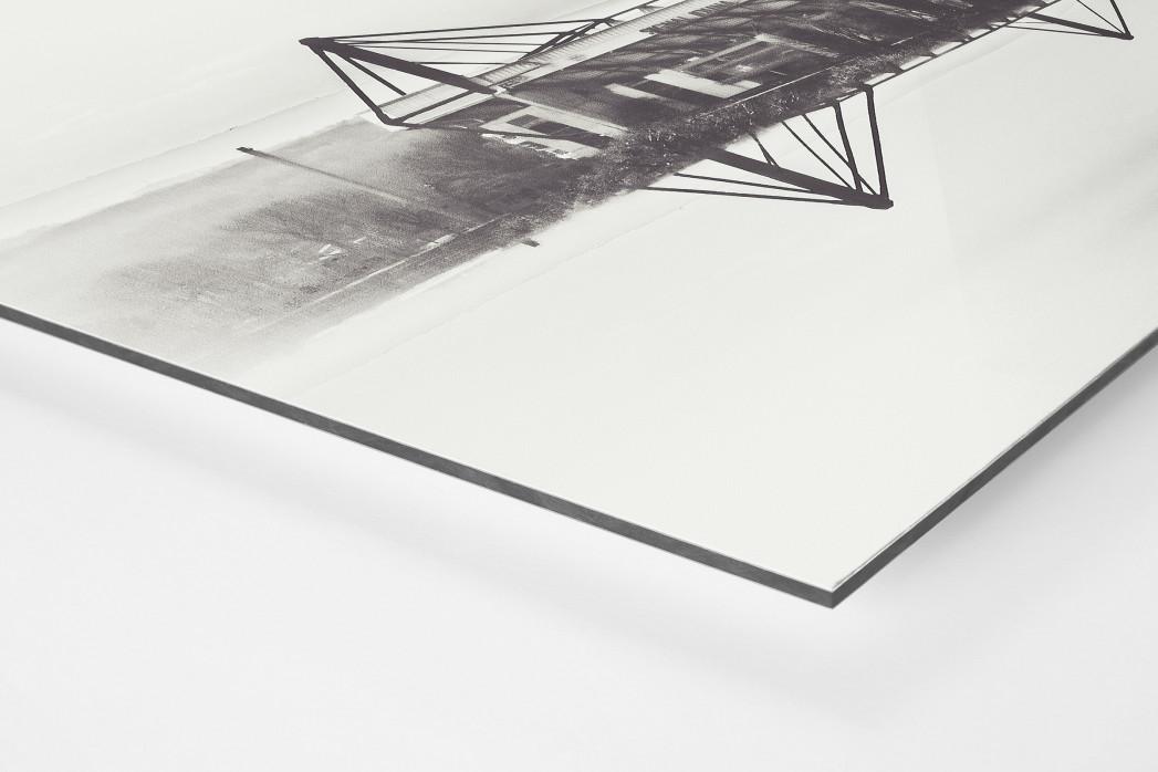 Es spiegelt sich der Signal Iduna Park als auf Alu-Dibond kaschierter Fotoabzug (Detail)