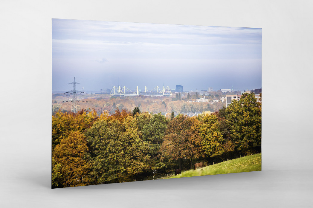 Signal Iduna Park im Stadtbild als auf Alu-Dibond kaschierter Fotoabzug