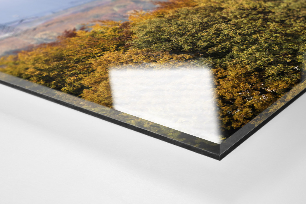 Signal Iduna Park im Stadtbild als Direktdruck auf Alu-Dibond hinter Acrylglas (Detail)
