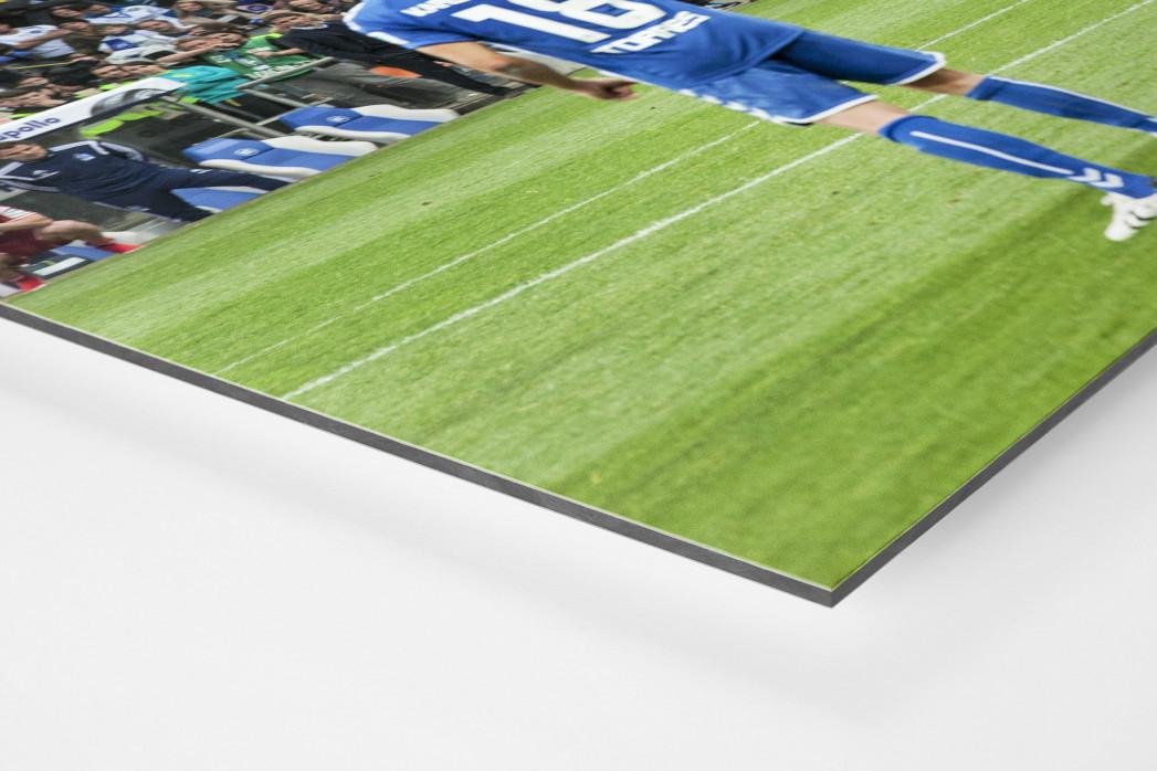 HSV Freistoß ins Glück (Farbe) als auf Alu-Dibond kaschierter Fotoabzug (Detail)