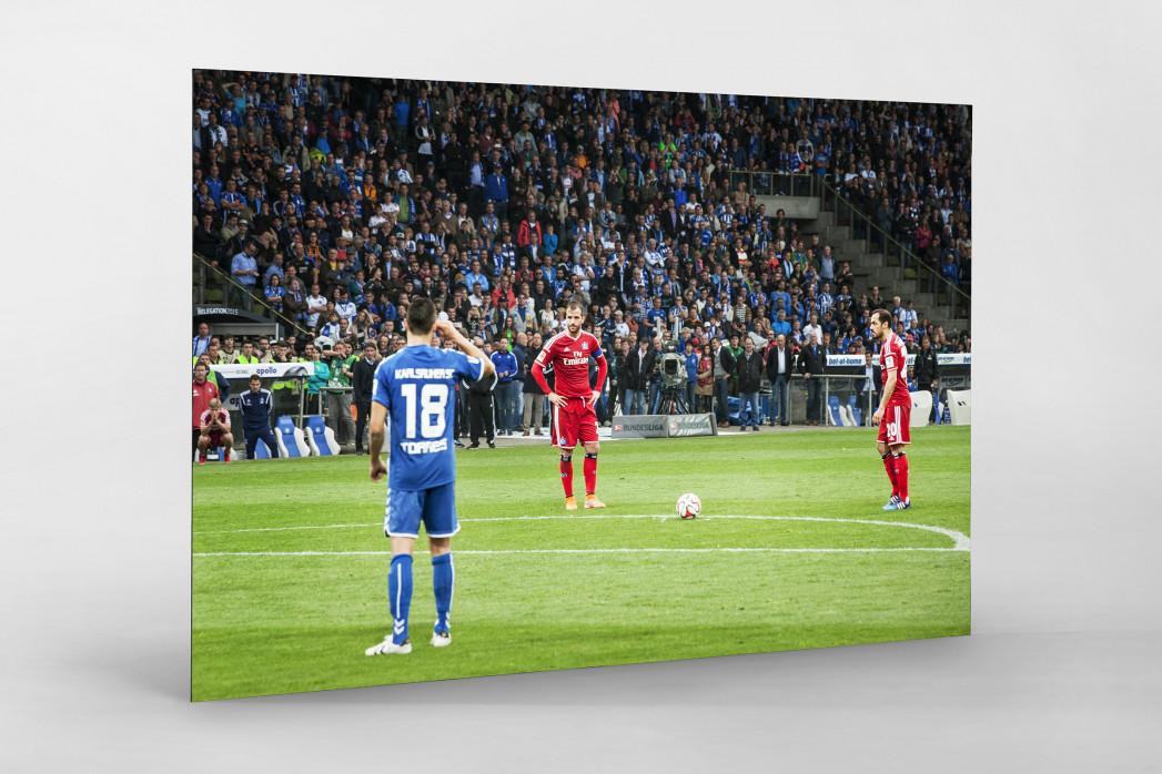 HSV Freistoß ins Glück (Farbe) als auf Alu-Dibond kaschierter Fotoabzug