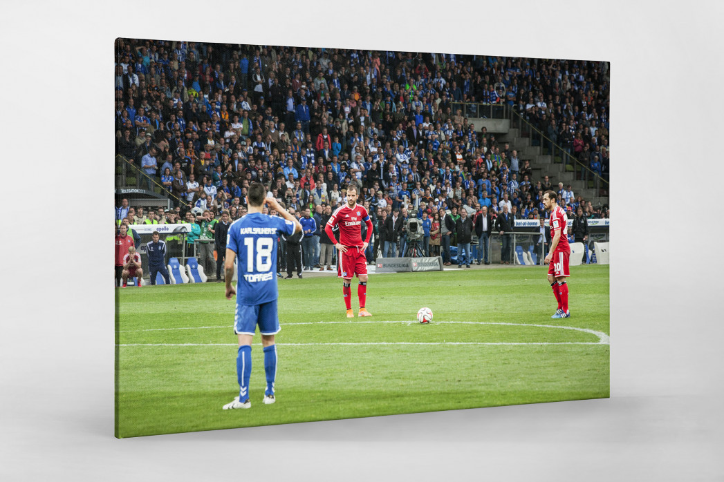 HSV Freistoß ins Glück (Farbe) als Leinwand auf Keilrahmen gezogen
