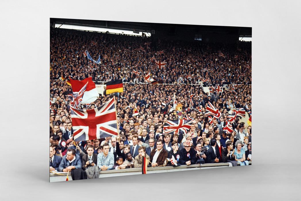 Fans beim WM Finale 1966 als auf Alu-Dibond kaschierter Fotoabzug