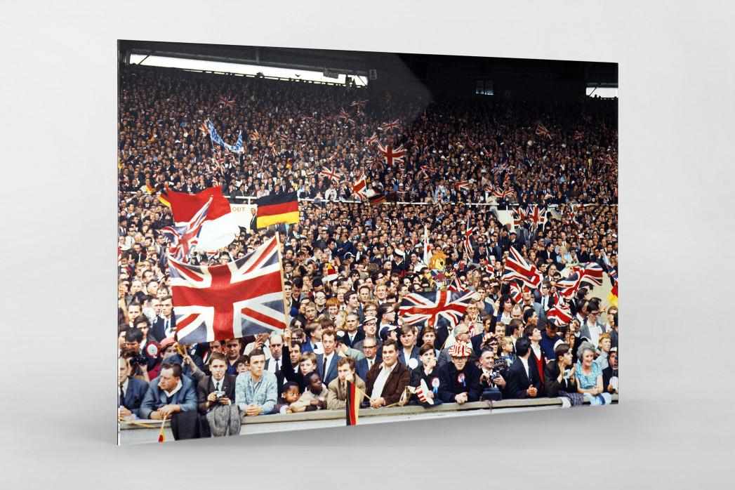 Fans beim WM Finale 1966 als Direktdruck auf Alu-Dibond hinter Acrylglas