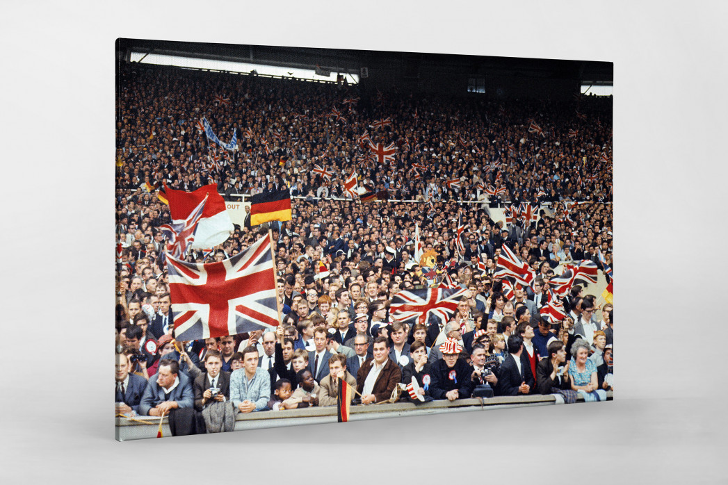 Fans beim WM Finale 1966 als Leinwand auf Keilrahmen gezogen