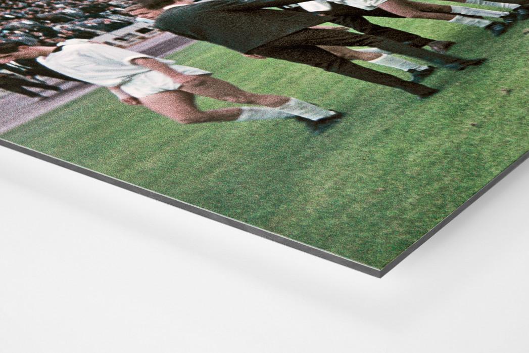Gladbacher Jubel in Marl als auf Alu-Dibond kaschierter Fotoabzug (Detail)