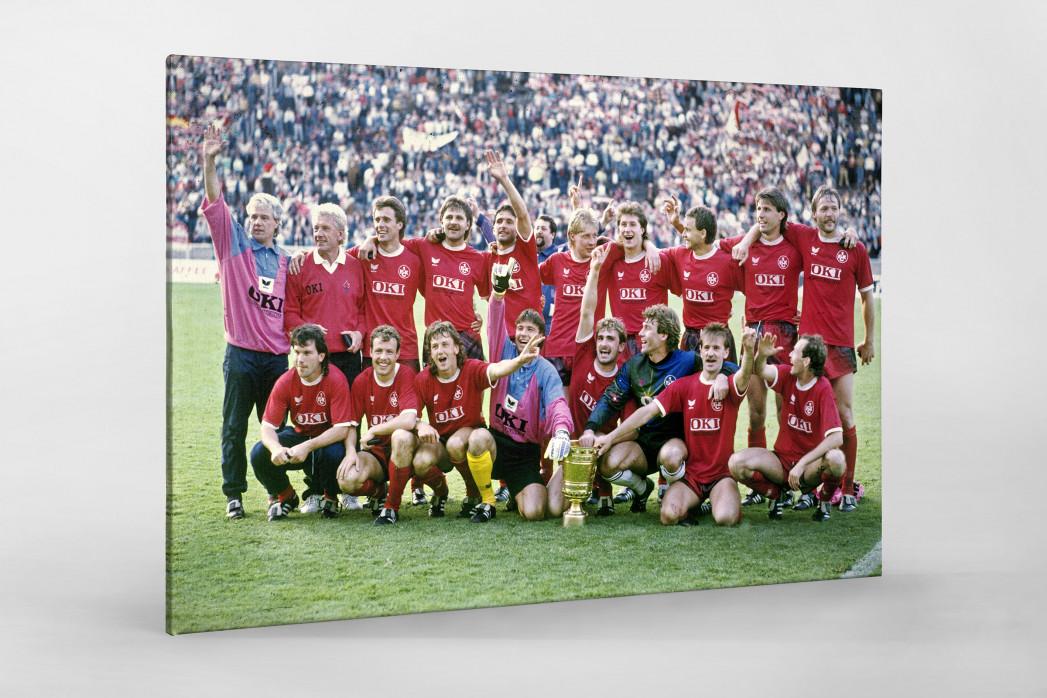 Lauterer Pokaljubel 1990 (1) als Leinwand auf Keilrahmen gezogen
