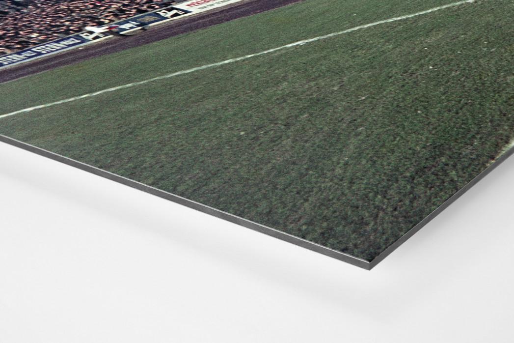 Tribüne Stadion am Uhlenkrug als auf Alu-Dibond kaschierter Fotoabzug (Detail)