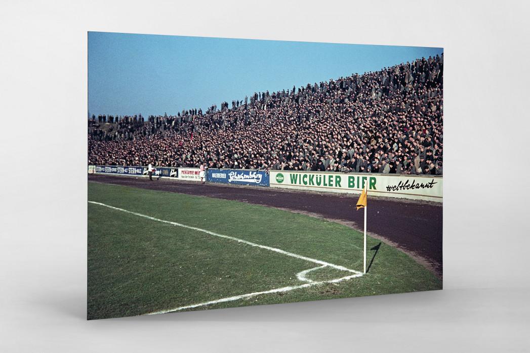 Tribüne Stadion am Uhlenkrug als auf Alu-Dibond kaschierter Fotoabzug