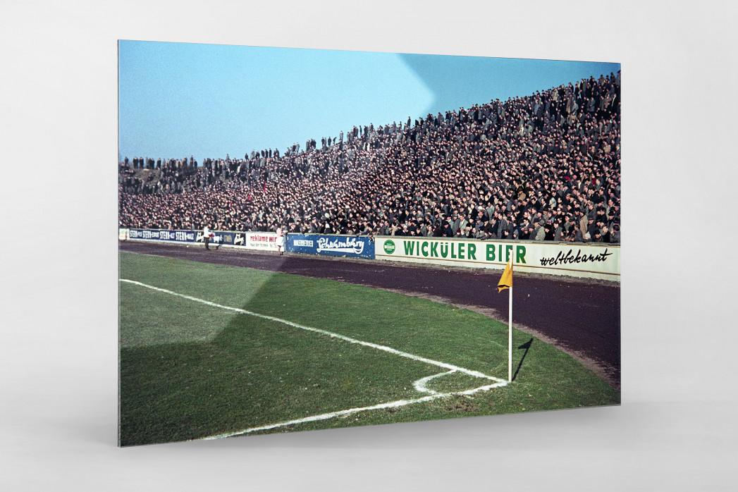 Tribüne Stadion am Uhlenkrug als Direktdruck auf Alu-Dibond hinter Acrylglas