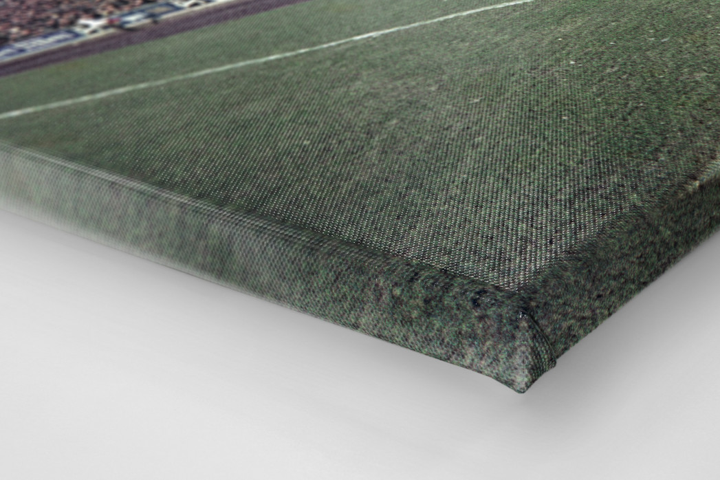 Tribüne Stadion am Uhlenkrug als Leinwand auf Keilrahmen gezogen (Detail)
