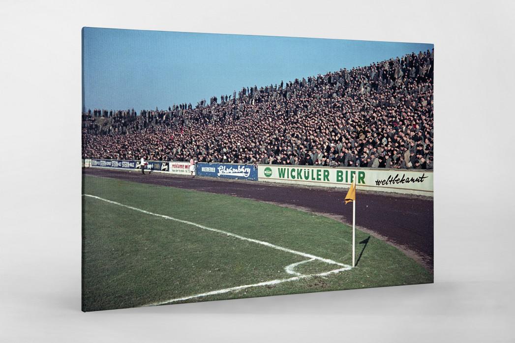 Tribüne Stadion am Uhlenkrug als Leinwand auf Keilrahmen gezogen