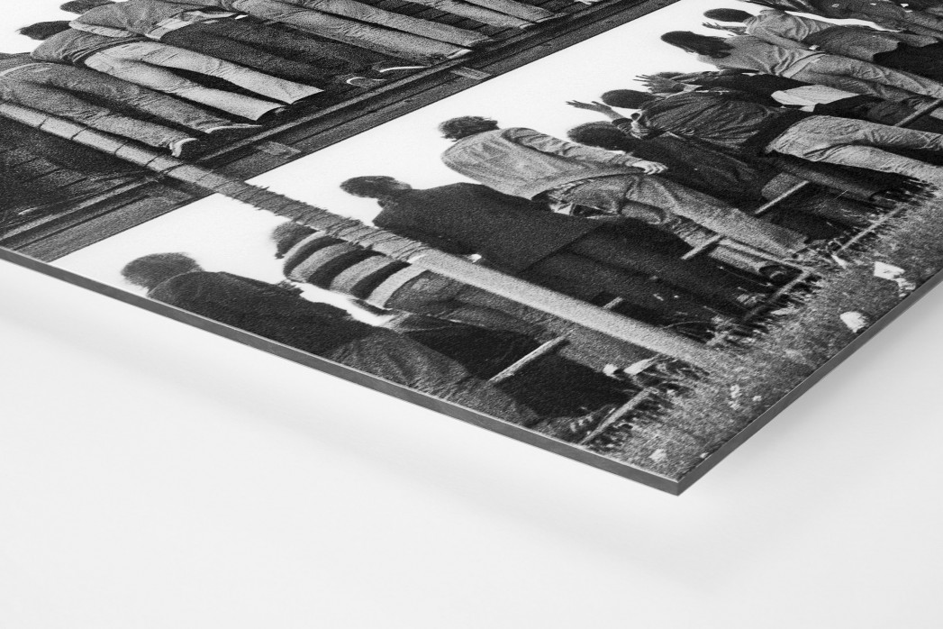 Braunschweig Fans 1981 als auf Alu-Dibond kaschierter Fotoabzug (Detail)