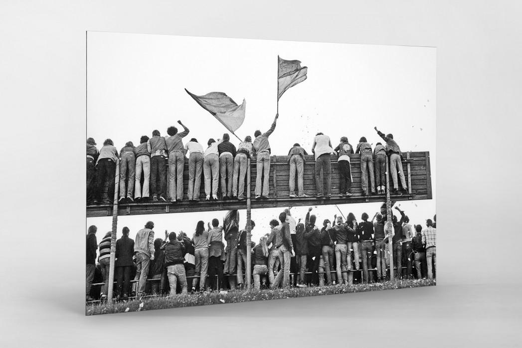 Braunschweig Fans 1981 als auf Alu-Dibond kaschierter Fotoabzug